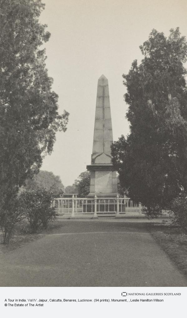 Leslie Hamilton Wilson, A Tour in India. Vol IV. Jaipur, Calcutta, Benares, Lucknow. (94 prints). Monument