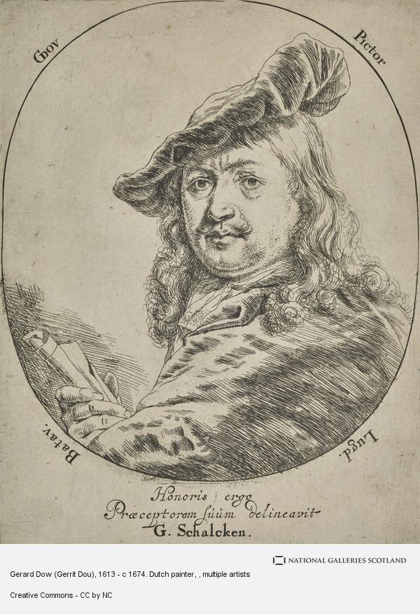 Godfried Schalcken, Gerard Dow (Gerrit Dou), 1613 - c 1674. Dutch painter