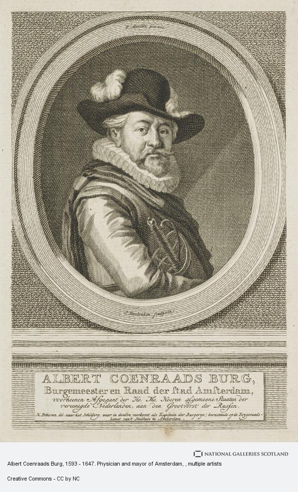 Jacobus Houbraken, Albert Coenraads Burg, 1593 - 1647. Physician and mayor of Amsterdam