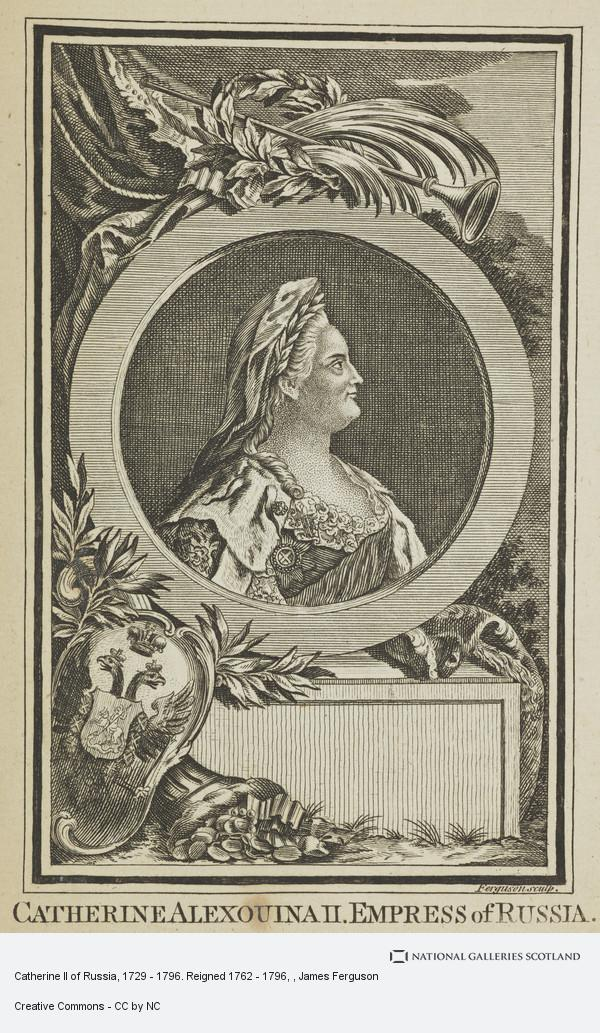 James Ferguson, Catherine II of Russia, 1729 - 1796. Reigned 1762 - 1796