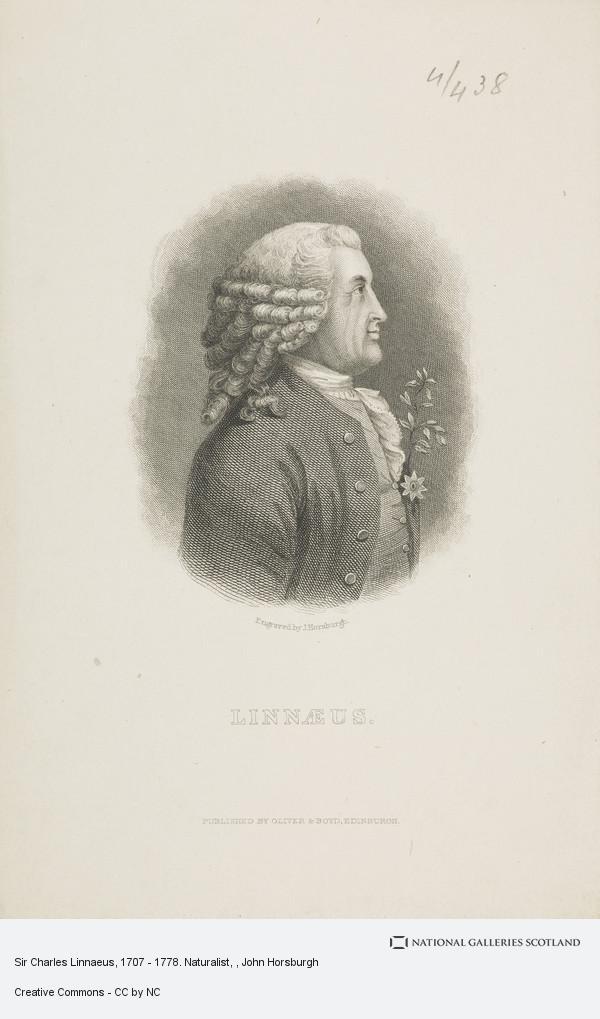 John Horsburgh, Sir Charles Linnaeus, 1707 - 1778. Naturalist
