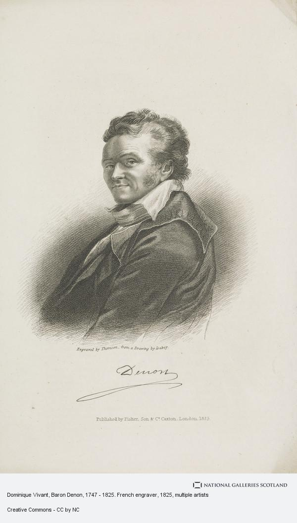 Thomson, Dominique Vivant, Baron Denon, 1747 - 1825. French engraver