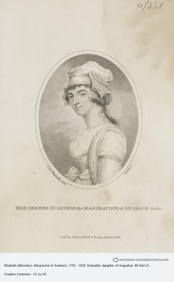 Ridley, Elizabeth (Berkeley), Margravine of Ansbach, 1750 - 1828. Dramatist; daughter of Augustus, 4th Earl of Berkeley and widow of William, 6th Baron...