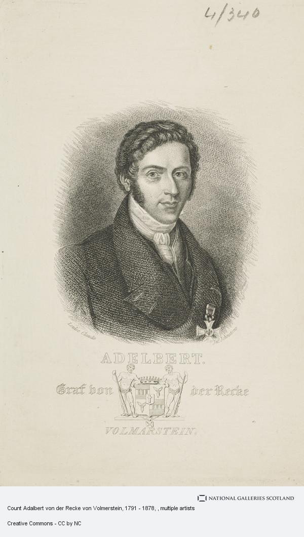 John Johnstone, Count Adalbert von der Recke von Volmerstein, 1791 - 1878