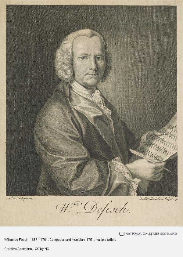 Francois Morellon de La Cave, Willem de Fesch, 1687 - 1761. Composer and musician