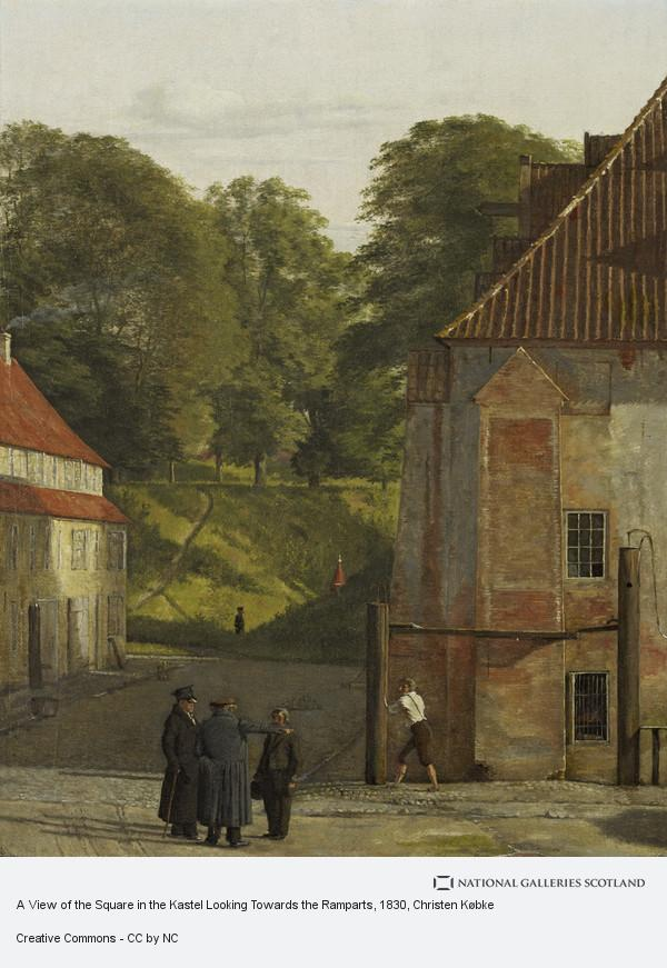 Christen Købke, A View of the Square in the Kastel Looking Towards the Ramparts