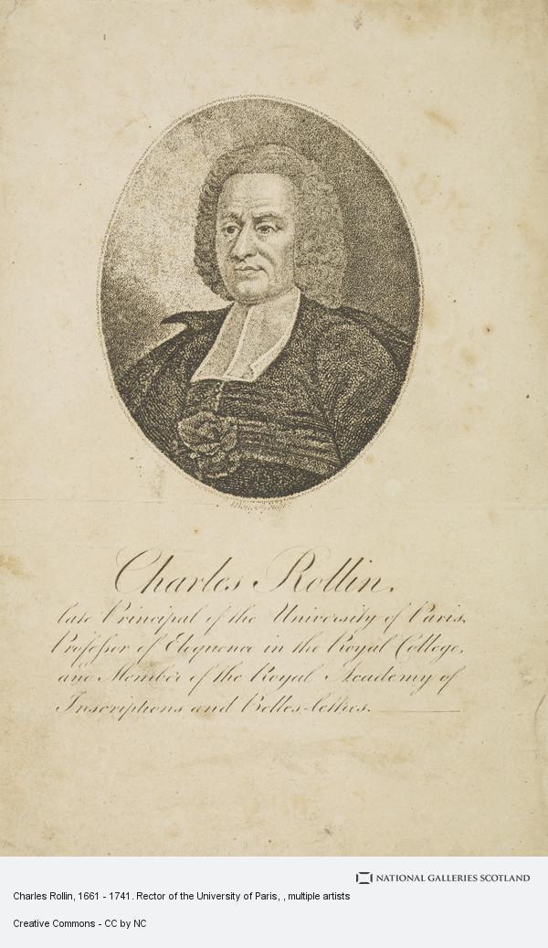 John Beugo, Charles Rollin, 1661 - 1741. Rector of the University of Paris