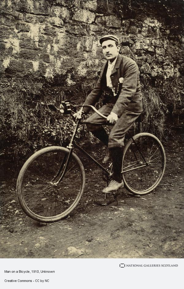 Unknown, Man on a Bicycle