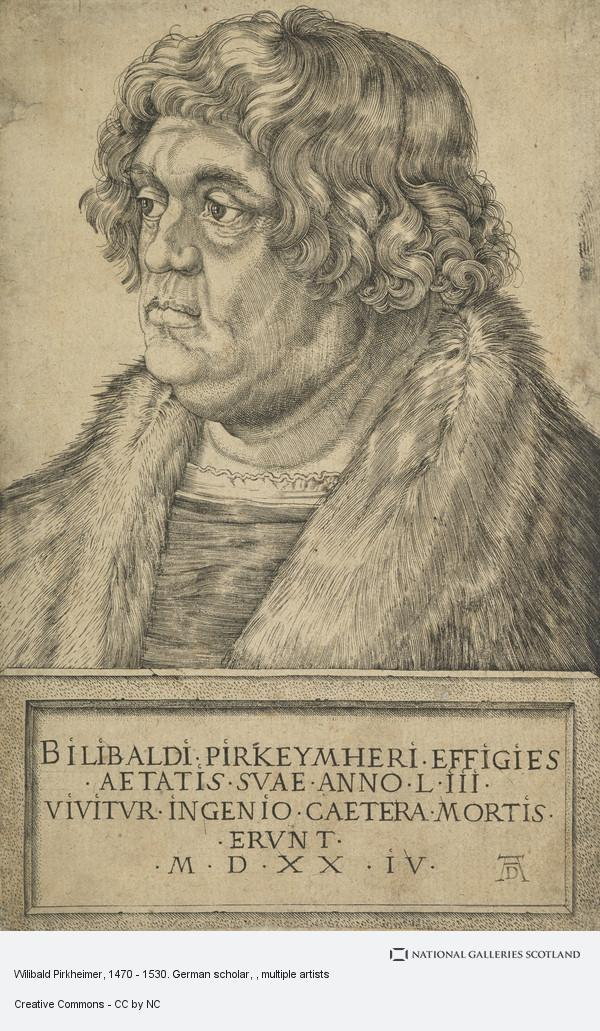 Albrecht Dürer, Wilibald Pirkheimer, 1470 - 1530. German scholar