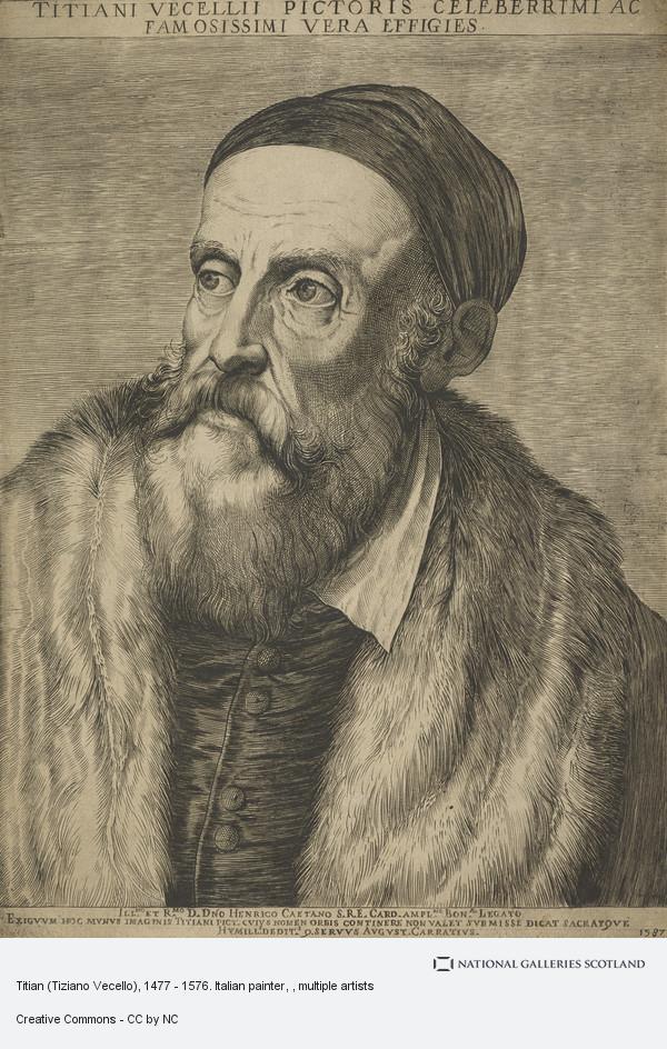 Agostino Carracci, Titian (Tiziano Vecello), 1477 - 1576. Italian painter