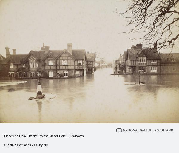 Unknown, Floods of 1894: Datchet by the Manor Hotel