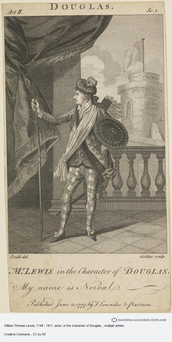 Dodd, William Thomas Lewis, 1748 - 1811, actor, in the character of Douglas