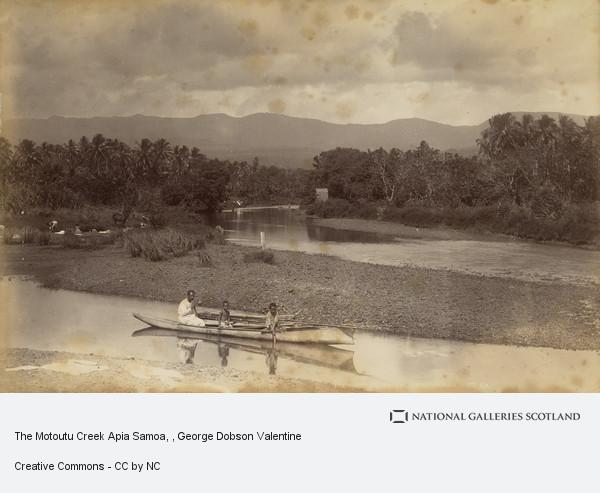 George Dobson Valentine, The Motoutu Creek Apia Samoa