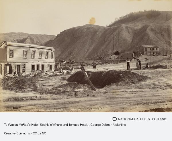 George Dobson Valentine, Te Wairoa McRae's Hotel, Sophia's Whare and Terrace Hotel