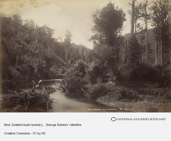 George Dobson Valentine, New Zealand bush scenery