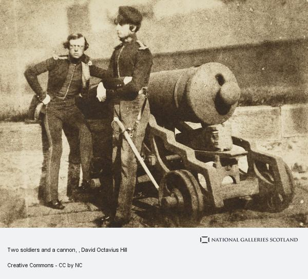 David Octavius Hill, Two soldiers and a cannon