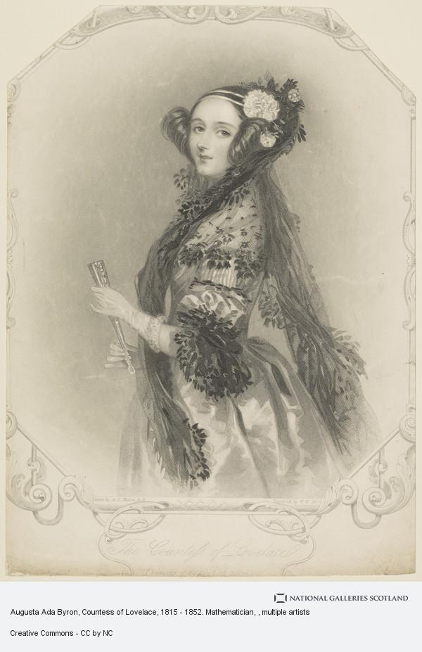 William Henry Mote, Augusta Ada Byron, Countess of Lovelace, 1815 - 1852. Mathematician