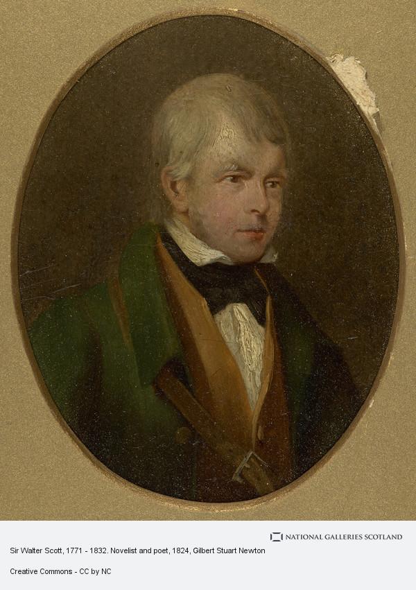 Gilbert Stuart Newton, Sir Walter Scott, 1771 - 1832. Novelist and poet