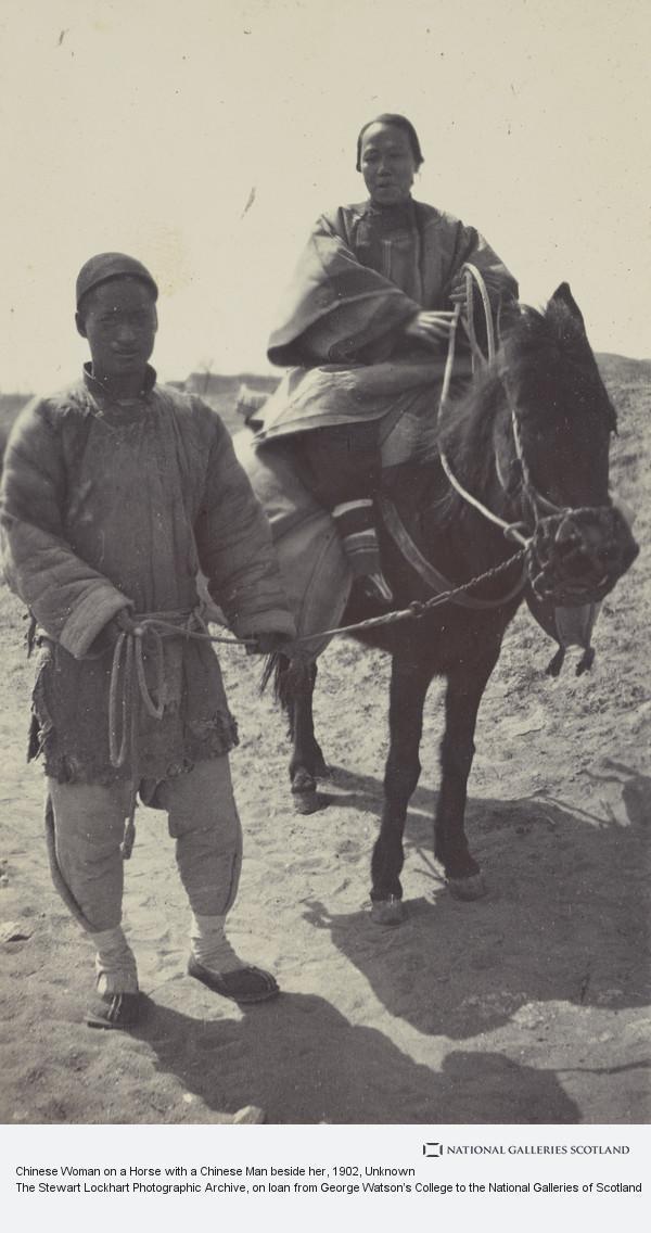 Unknown, Chinese Woman on a Horse with a Chinese Man beside her