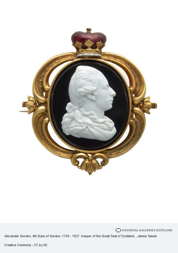 James Tassie, Alexander Gordon, 4th Duke of Gordon, 1743 - 1827. Keeper of the Great Seal of Scotland