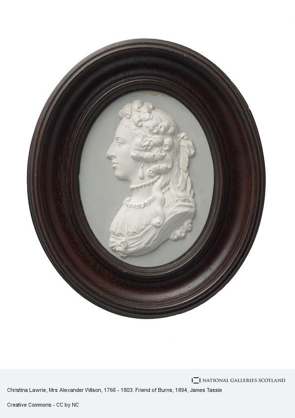 James Tassie, Christina Lawrie, Mrs Alexander Wilson, 1766 - 1803. Friend of Burns