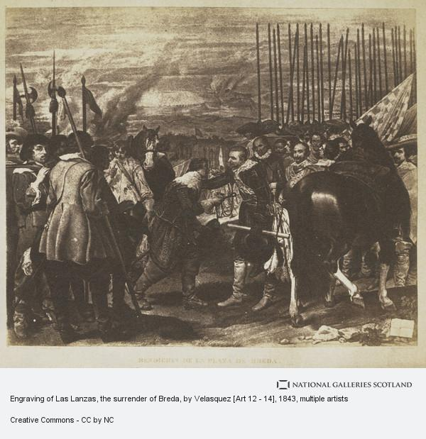David Octavius Hill, Engraving of Las Lanzas, the surrender of Breda, by Velasquez [Art 12 - 14]