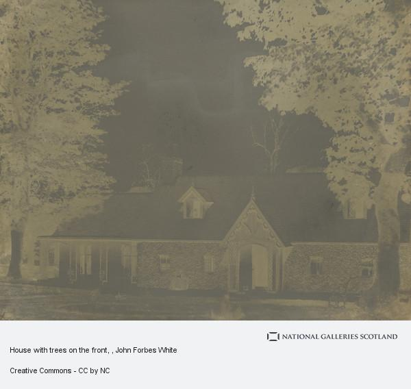 John Forbes White, House with trees on the front