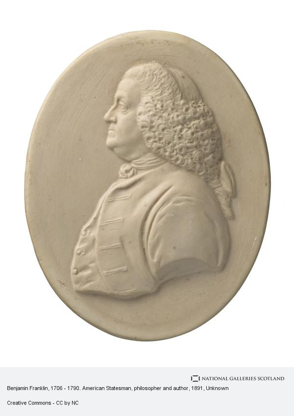Unknown, Benjamin Franklin, 1706 - 1790. American Statesman, philosopher and author