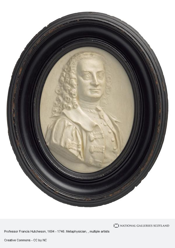 From a James Tassie cast, Professor Francis Hutcheson, 1694 - 1746. Metaphysician