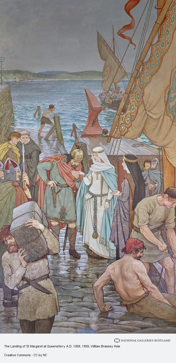 William Brassey Hole, The Landing of St Margaret at Queensferry A.D. 1068