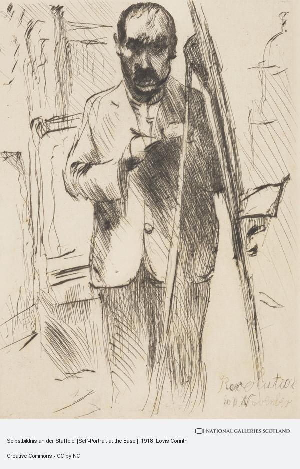 Lovis Corinth, Selbstbildnis an der Staffelei [Self-Portrait at the Easel]