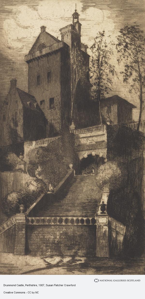 Susan Fletcher Crawford, Drummond Castle, Perthshire