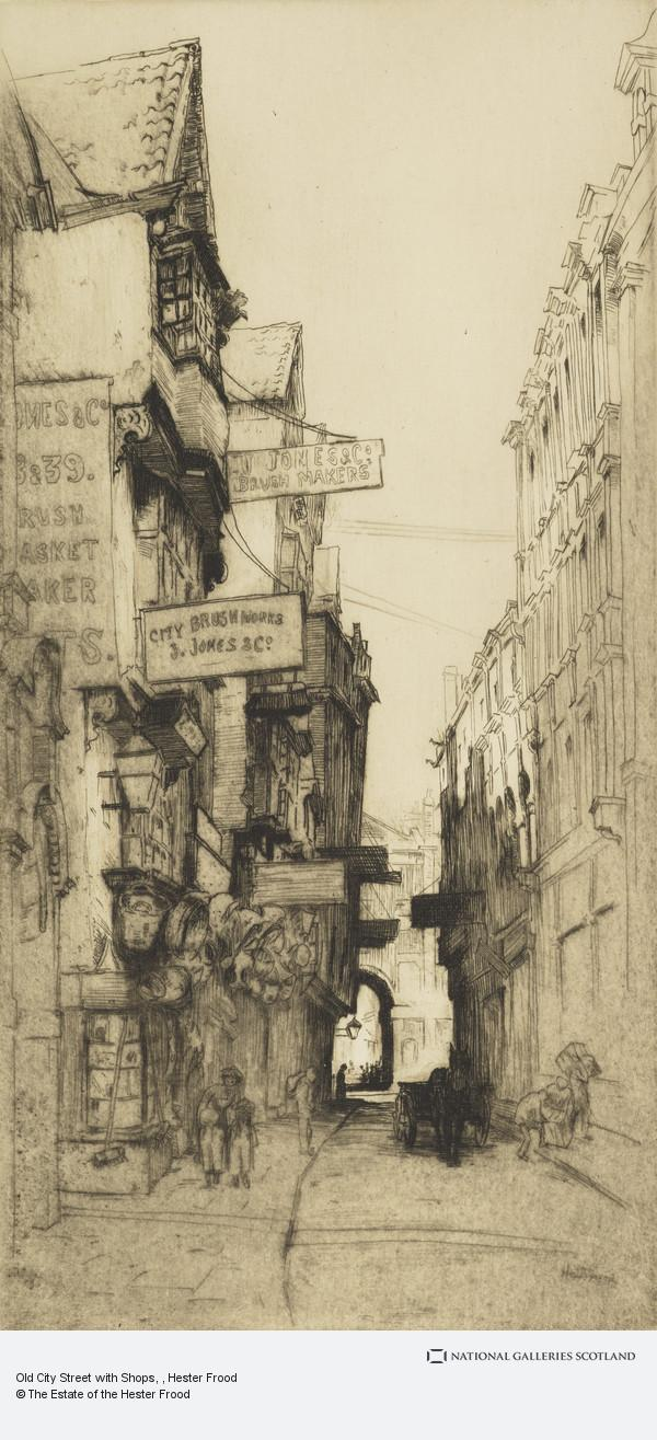 Hester Frood, Old City Street with Shops
