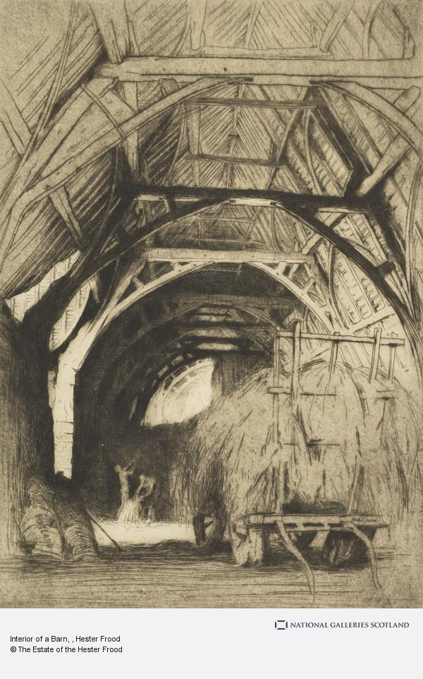 Hester Frood, Interior of a Barn