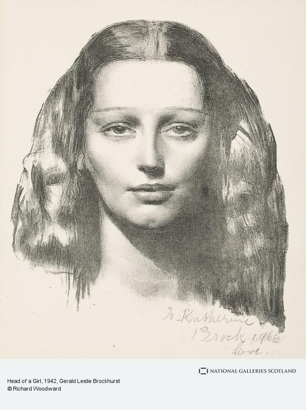 Gerald Leslie Brockhurst, Head of a Girl