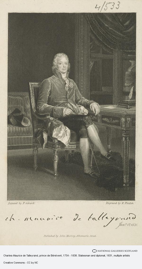 Finden, Charles-Maurice de Talleyrand, prince de Bénévent, 1754 - 1838. Statesman and diplomat