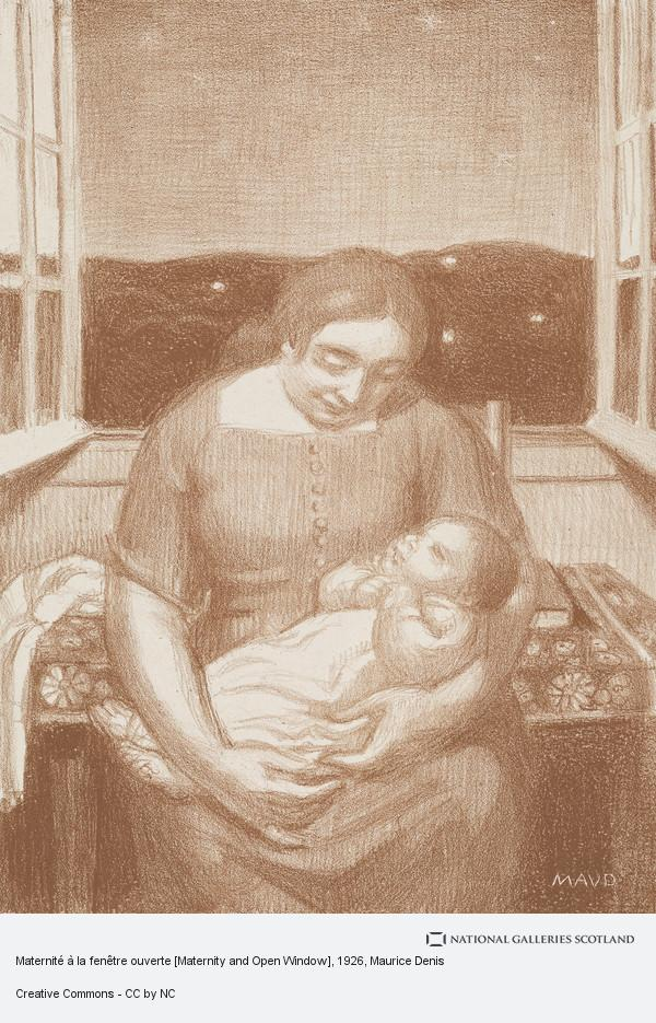 Maurice Denis, Maternité à la fenêtre ouverte [Maternity and Open Window]