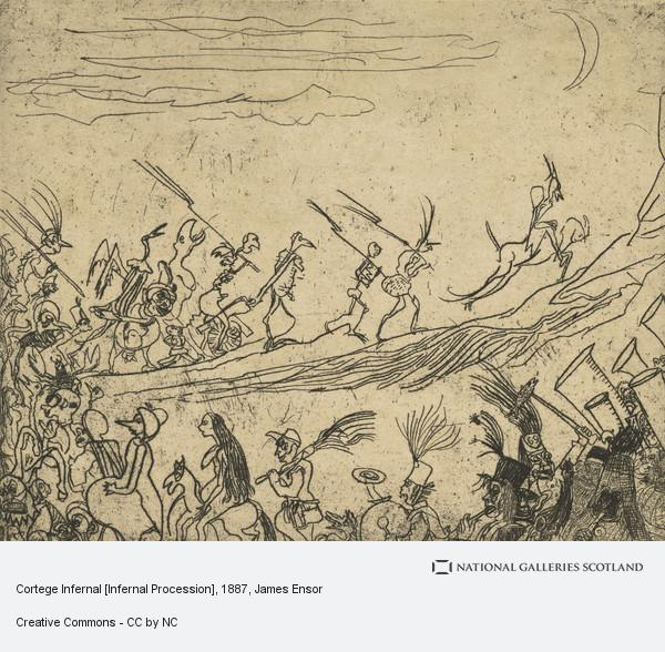 James Ensor, Cortege Infernal [Infernal Procession]