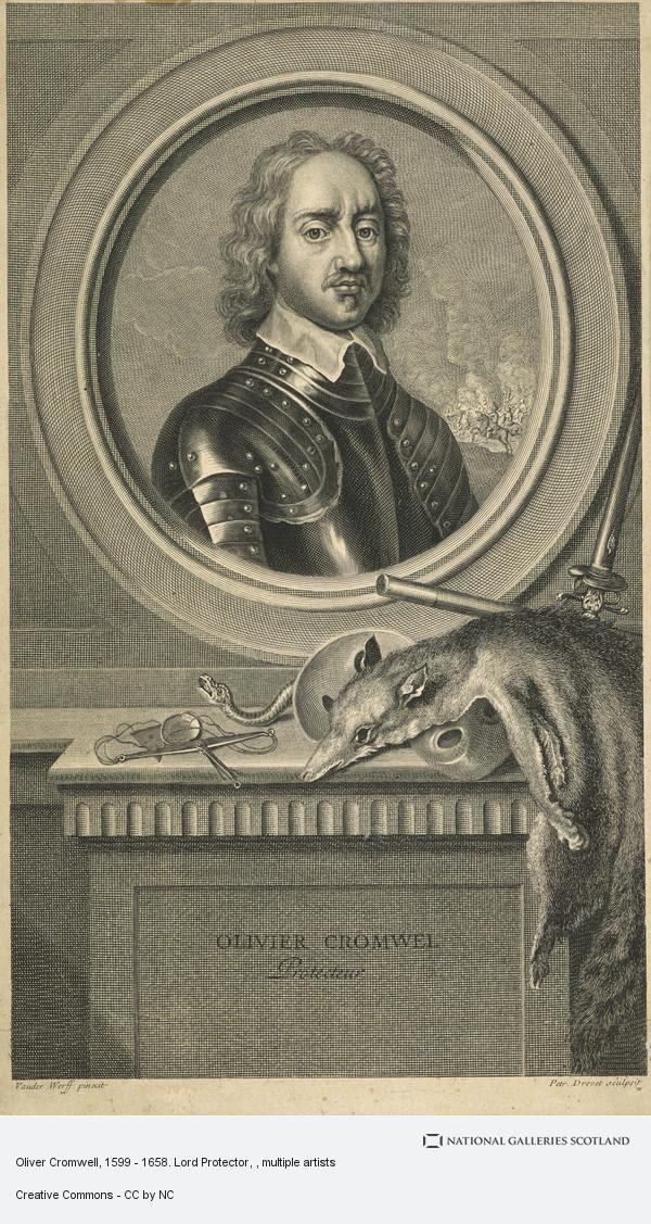 Petrus Drevet, Oliver Cromwell, 1599 - 1658. Lord Protector