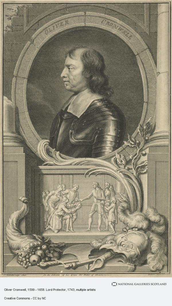Jacobus Houbraken, Oliver Cromwell, 1599 - 1658. Lord Protector