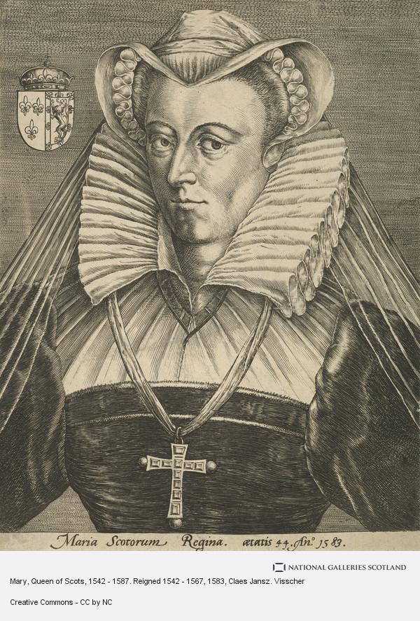 Claes Jansz. Visscher, Mary, Queen of Scots, 1542 - 1587. Reigned 1542 - 1567