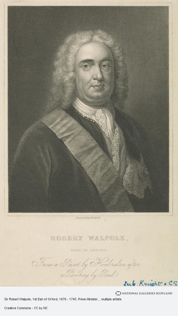Henry Bryan Hall, Sir Robert Walpole, 1st Earl of Orford, 1676 - 1745. Prime Minister