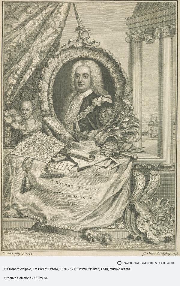 Christian Friedrich Zincke, Sir Robert Walpole, 1st Earl of Orford, 1676 - 1745. Prime Minister