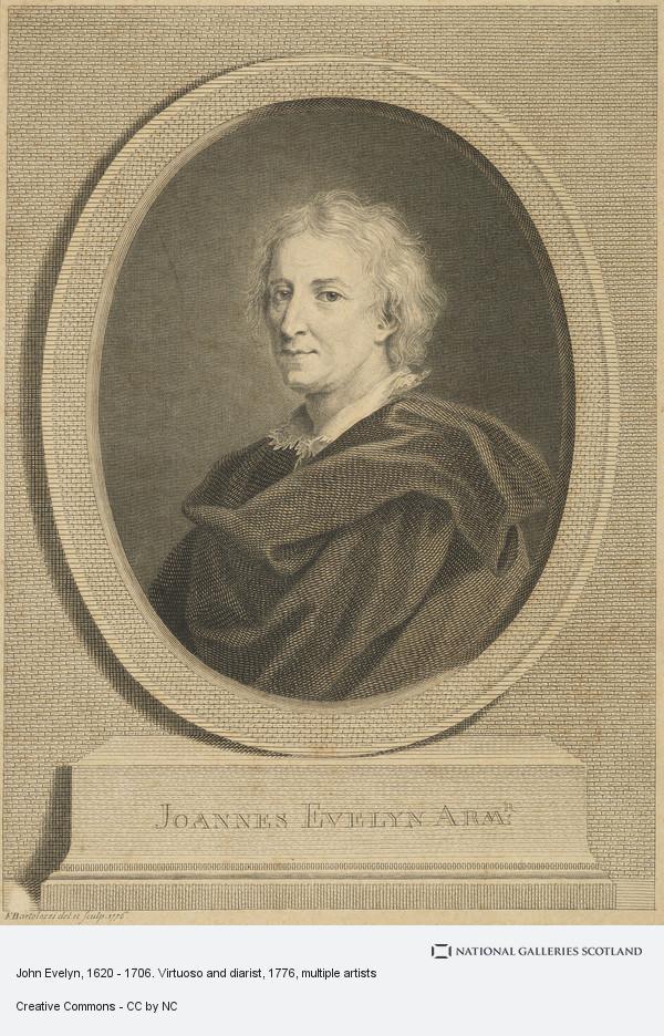 Francesco Bartolozzi, John Evelyn, 1620 - 1706. Virtuoso and diarist