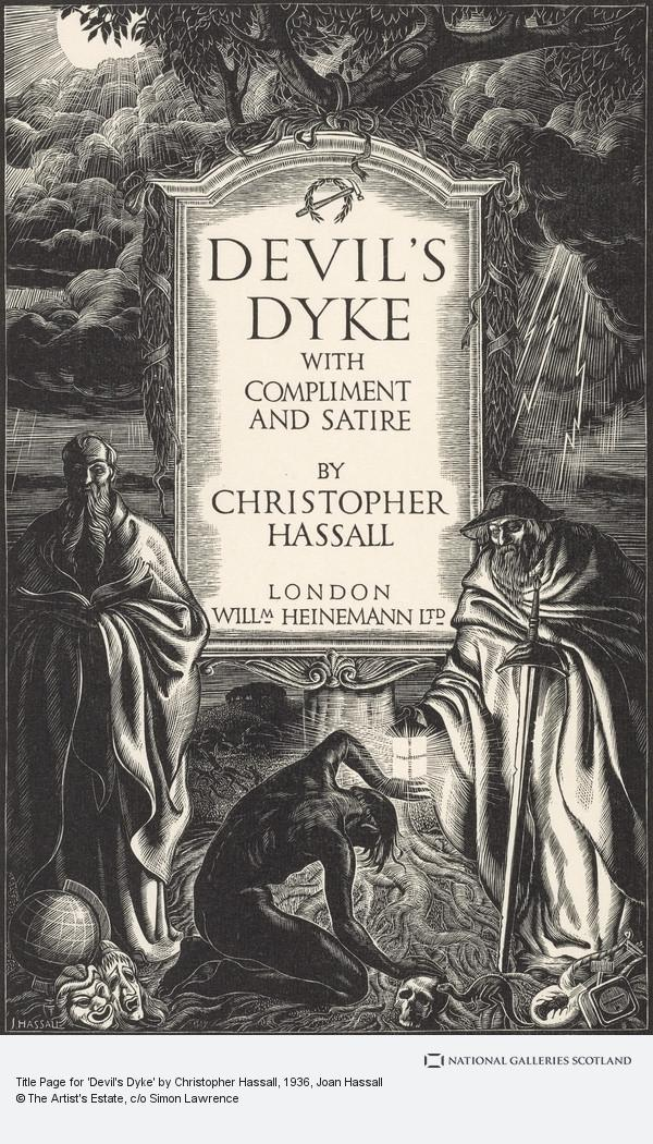 Joan Hassall, Title Page for 'Devil's Dyke' by Christopher Hassall