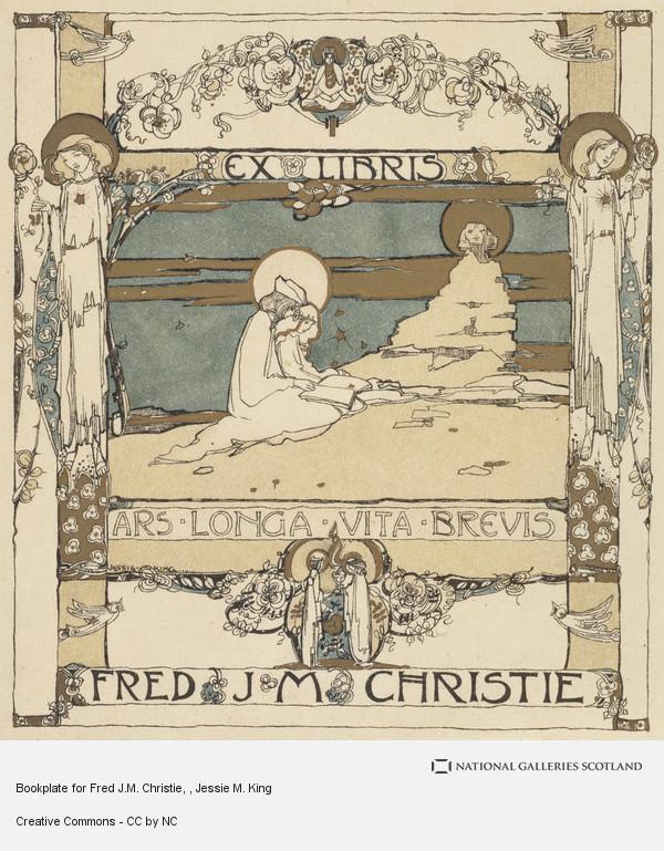 Jessie M. King, Bookplate for Fred J.M. Christie