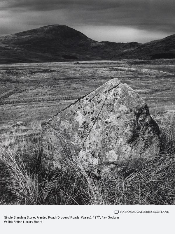 Fay Godwin, Single Standing Stone, Prenteg Road (Drovers' Roads, Wales)