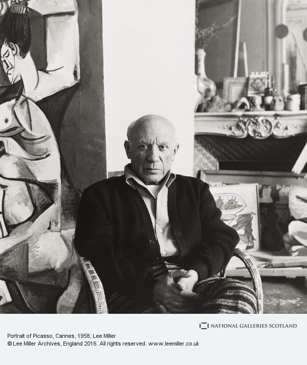 Lee Miller, Portrait of Picasso, Cannes