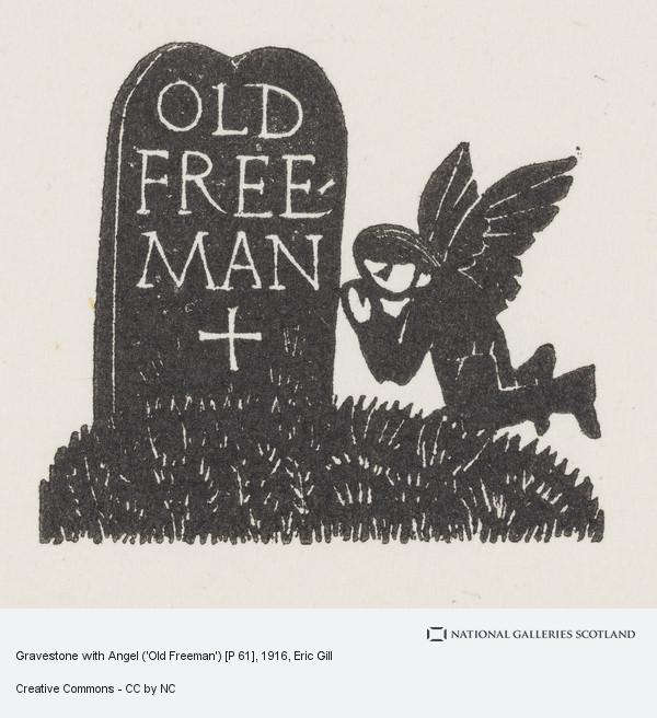 Eric Gill, Gravestone with Angel ('Old Freeman') [P 61]