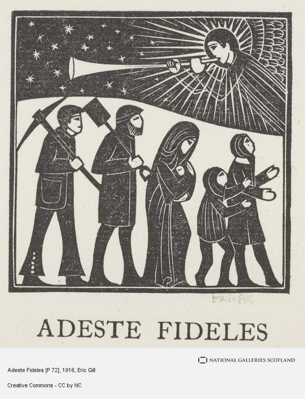Eric Gill, Adeste Fideles [P 72]